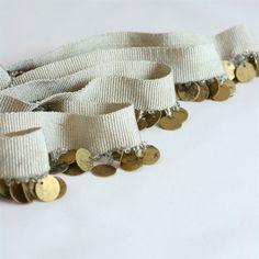 Osborne & Little: T705-02  Corniche Trimmings, Coin Fringe {trim chandelier shades?}