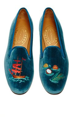 Slipper by Stubbs & Wootton via  Moda Operandi