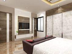 Kumar Interior Thane : interior design ideas indian style Homes! Indian Bedroom Design, Bedroom Design On A Budget, Indian Interior Design, Wardrobe Design Bedroom, Luxury Bedroom Design, Interior Design Business, Bedroom Furniture Design, Apartment Interior Design, Modern Bedroom