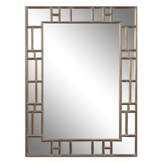 12937 Mirror to hang horizontally above fire place.  Frame is light and open which will help to lighten the room.