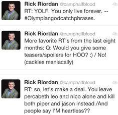 Resultado de imagen para rick riordan tweets