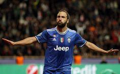 Lataa kuva Gonzalo Higuain, 4k, Juve, Serie, tavoite, jalkapallo, jalkapalloilijat, Juventus FC