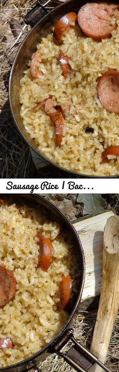 Sausage Rice | Backpack Camp Meal Recipe Cooking... Tags: camp, recipe, cook, primitive, cooking, skills, outdoor cooking, outdoors, delicious, tasty, backpacking meal, meal, backpack, camp meal, camp recipe, field kitchenn, field, kitchen, hiking, biking, satiating, bush meal, rice, sausage, onion, oil, meat, turmeric, ingredient, simple, bushcraft, survival, wilderness, dakota, fire, dakota fire pit, dakota pit, dakota hole, bushcraft recipe, bushcraft meal, bushcraft cooking, outdoor…