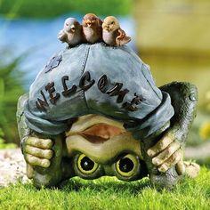 Frog Welcome Garden Statue