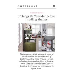 Interior trends ✨ From installation to materials, cost to function, here's what the experts have to say on them... Trilled to be featured by @sheerluxe 💫  #interiortrends  #guide #interiordesign  #interiordesigner  #interiordecorating  #interiordesigninspiration  #interiordesignideas  #classic #windowtreatments  #finest #handcrafted #interior #shutters  #ttshutterco Classic Window, Interior Shutters, Interior Design Inspiration, Window Treatments, Interior Decorating, Trends, Decor, Interior Design, Indoor Window Shutters