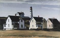 Edward Hopper | Lighthouse Hill, Cape Elizabeth, Maine