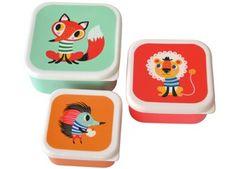set de 3 boîtes à lunch 'animaux' Helen Dardik Petit Monkey | shop pour enfants Le Petit Zèbre