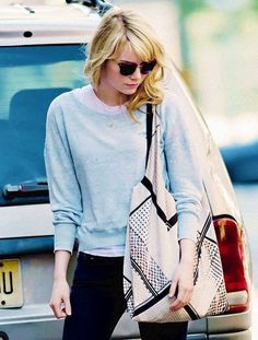 Love Emma Stone's style here