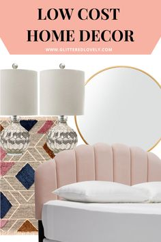 Here are a list of places to find low cost home decor and decorate on a tight budget.