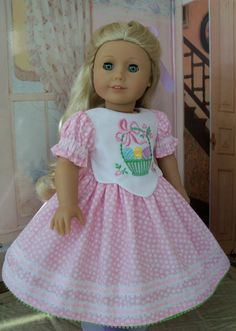 Embroidered Easter Dress / Clothes for Samantha by Farmcookies
