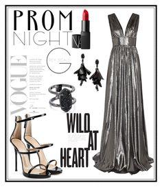 """#perfect #prom #night"" by florairon on Polyvore featuring Giuseppe Zanotti, NARS Cosmetics, Oscar de la Renta and Kendra Scott"