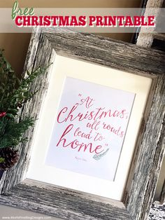 Add some flair to your Christmas home decorations with this Christmas Wall Decor Free Printable. Simply print and frame! Use on your mantle, hang in your bathroom or even place on a sofa table.