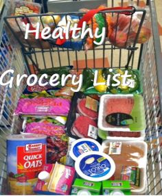 KickStart Fitness and Nutrition: Healthy grocery list.  Actually very easy and simple tips anybody can keep up with ( and for picky eaters)