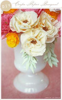 DIY: Crepe PaperBouquet