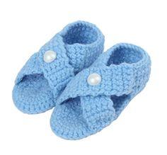 Bigood(TM) 1 Paar Strickschuh One Size Strick Schuh Baby Unisex süße Muster 11cm Blau A - http://on-line-kaufen.de/bigood/blau-a-bigood-tm-1-paar-strickschuh-one-size-strick