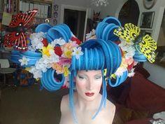Asian themed foam wig