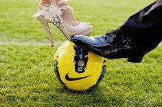 y por que no? una boda original para esos fanáticos del futbol!