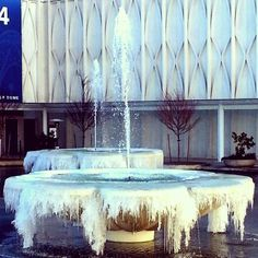 Frozen fountains at the Pacific Science Center