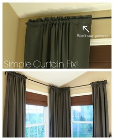 Easy Curtain Fix - IKEA hack