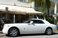 White Rolls Royce Phantom Coupe