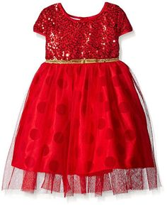 NWT Girl BLUEBERI BLVD Red Sequin Dot Tulle Ballerina Holiday Dress Size 5 6 6x #BlueberiBoulevard #BallerinaTulleDress #ValentinesDayChristmasDressyHolidayPageantWedding