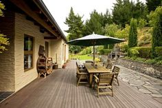 Multiple decks and patios to capture every aspect of this alpine environment Luxury Real Estate, Decks, New Zealand, Environment, Outdoor Decor, Home Decor, Courtyards, Decoration Home, Room Decor