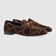 95c1d57c8828c4 Shop the Gucci Jordaan GG velvet loafer by Gucci. The Gucci Jordaan loafer  is a key silhouette that spans across seasons. The classic shape is updated  for ...