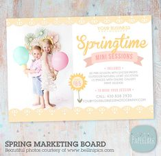 Hey, I found this really awesome Etsy listing at https://www.etsy.com/listing/222313366/spring-mini-session-marketing-board