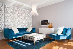 Zdjęcie numer 1 w galerii - Gdańskie mieszkanie z francuskim klimatem Dining Bench, Living Room, Interior Design, Modern, Furniture, Home Decor, Style, Room Ideas, Interiors