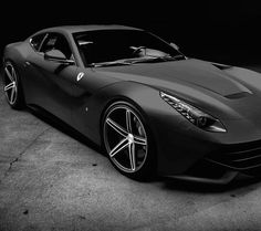 Cool Matte Black Ferrari via carhoots.com