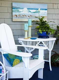 Coastal art for the porch.