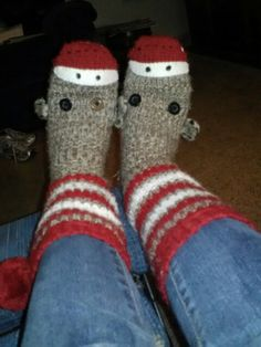 Sock Monkey Slippers!