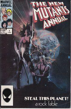 The New Mutants, Annual 1 1984 Issue - Marvel Comics - Grade Fine
