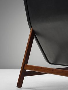 Gianfranco Frattini Chair Reupholstered with Aniline Leather Rosewood 5
