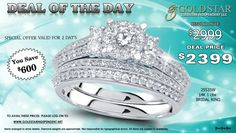 Grab Today's Deal of the Day. A Gorgeous Diamond Bridal Ring at amazingly low price by #Avista Collection.