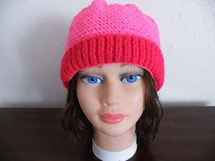 Knitted Pink Beads Hat