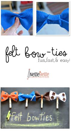 Make these adorable felt bowties for fun party accessories, photo booth props, or simply because! So fast and easy!