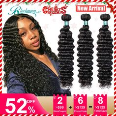 brazilian deep wave bundles deep wave human hair bundles 3 bundles deal 8 24 26 inch curly hair remy hair weave double drawn  Price: 26.99 & FREE Shipping  #fashion #sport #tech #lifestyle Curly Weave Hairstyles, Curly Hair Styles, Remy Human Hair, Remy Hair, Wedding Hair Colors, Brazilian Deep Wave, Waves Bundle, Wigs For Black Women, Wedding Hairstyles
