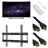 #9: Electronics OLED65C6P CURVE 65-INCH 4K ULTRA HD SMART OLED TV (2016 MODEL) - 5 PIECE BUNDLE- OLED TV SURGE PROTECTOR WALL MOUNT 2 4K 3D HDMI CABLES. - Shop for TV and Video Products (http://amzn.to/2chr8Xa). (FTC disclosure: This post may contain affiliate links and your purchase price is not affected in any way by using the links)