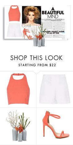 """""""Coral"""" by rowan-na-daw ❤ liked on Polyvore featuring Elizabeth and James and Hallhuber"""