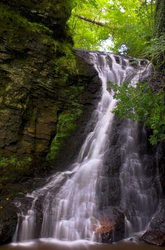 Hareshaw Linn Waterfall 6 by newcastlemale, Hareshaw Linn Waterfall, Northumberland