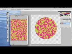 Great Graphics Photoshop Tutorial How to Make Patterns and put Patterns into Shapes