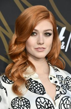 Katherine McNamara Long Wavy Cut - Katherine McNamara was gorgeously coiffed (as always) with perfectly glam waves at the Variety Power of Young Hollywood event. Katherine Mcnamara, Strawberry Blonde, Demi Lovato, Marie Claire, Color Caramelo, Amy Johnson, Short Hair Bun, Beautiful Female Celebrities, Beautiful Females