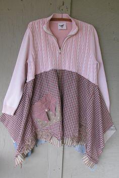upcycled sweater tunic dress Artsy Bohemian by lillienoradrygoods