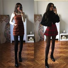 Amerikanischer Stil (Andrew Page) Hipster Outfits, Grunge Outfits, Edgy Outfits, Skirt Outfits, Winter Mode Outfits, Winter Fashion Outfits, Cute Fashion, Look Fashion, Fall Outfits