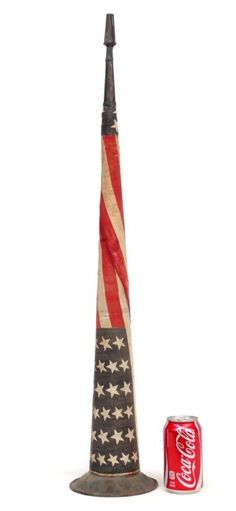 19th c. Campaign Horn : Lot 595