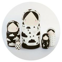 Items similar to Black and White Nesting Dolls Matryoshka - Weather Girls on Etsy Sketches Of Love, Hello Kitty, Matryoshka Doll, Wooden Dolls, Wood Toys, Gifts For Teens, Softies, Kids Playing, Kids Room