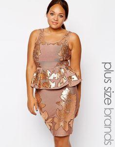 Donatella Embellished Bandage Dress, Asos Curve