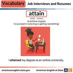 Vocabulary: Job Interviews and Resumes - Attain