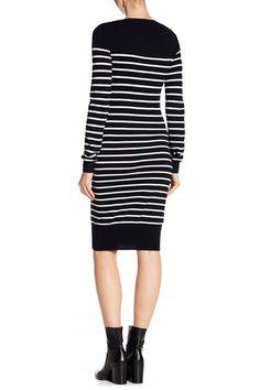 Striped Knit Long Sleeve Dress by BCBGeneration on @nordstrom_rack